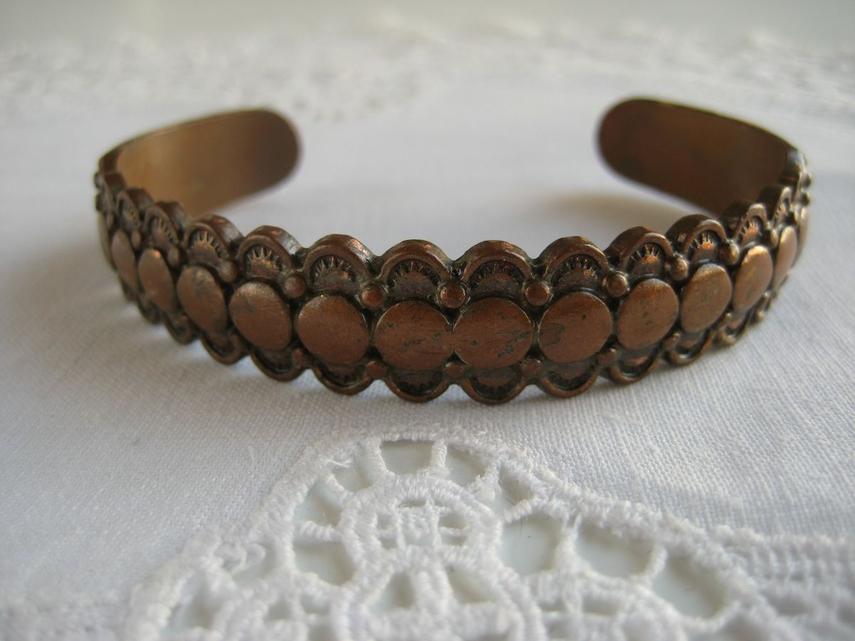 Vintage Solid Copper Cuff Bracelet - product image