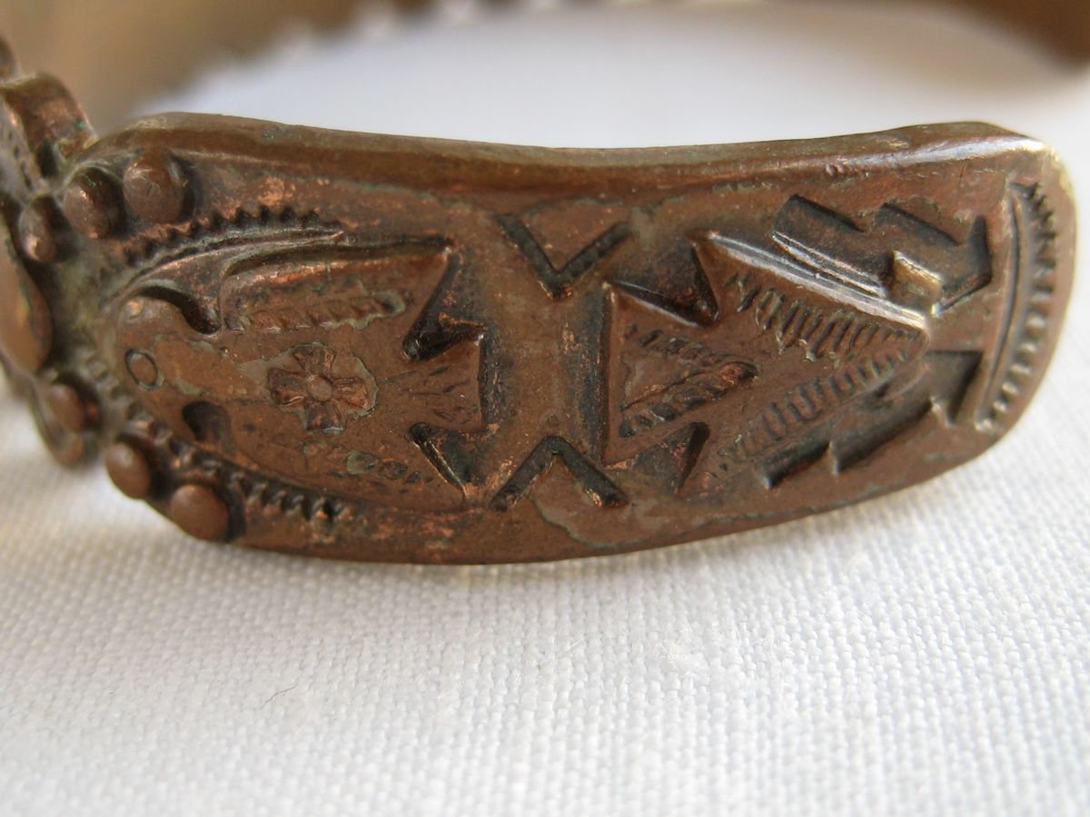 Vintage Solid Copper Cuff Bracelet - product images  of