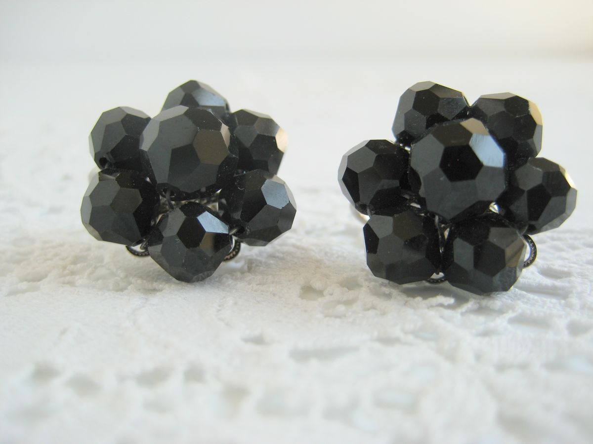 Black Cluster Earrings by Laguna - product image