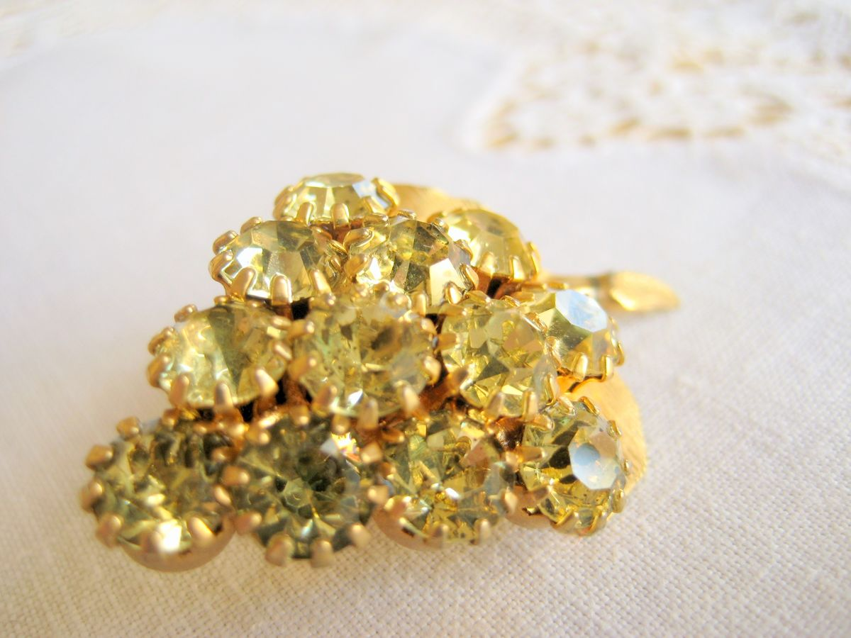 Rhinestone Grape Cluster Brooch - product images  of