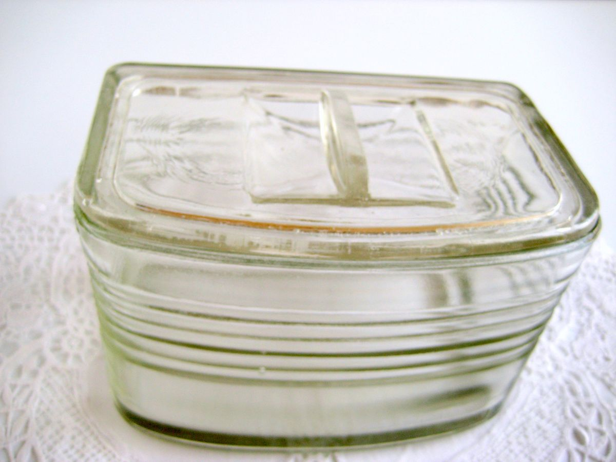 Antique Glass Refrigerator Container - product images  of