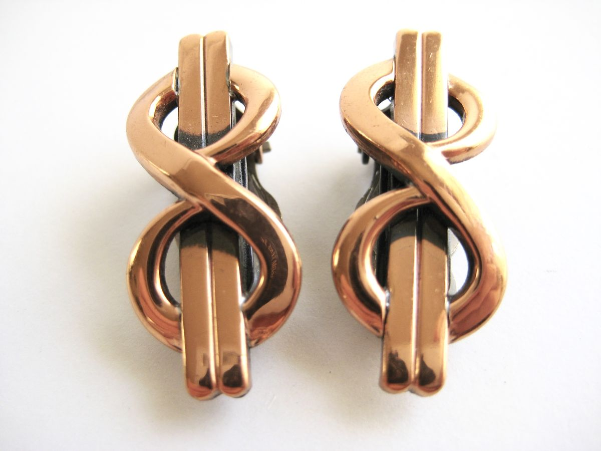 Copper Infinity Earrings by Renoir - product image