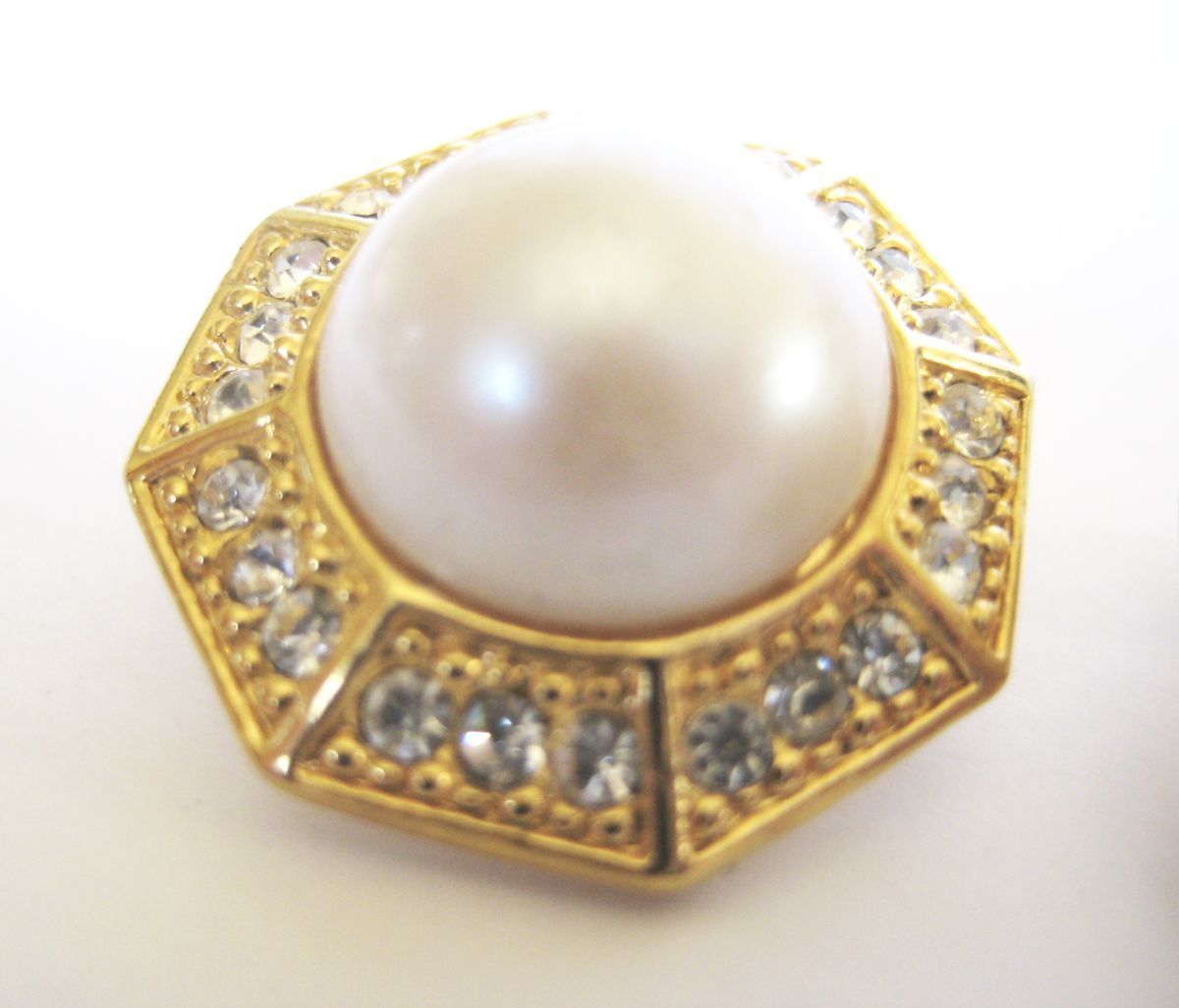 Rhinestone and Pearl Earrings - product images  of