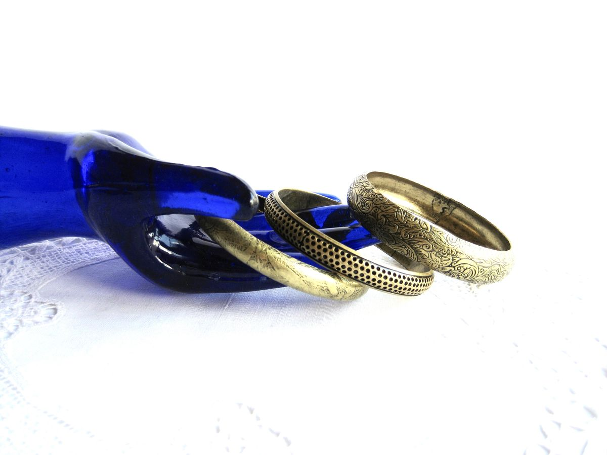 Brass Bangles set of 3 - product images  of