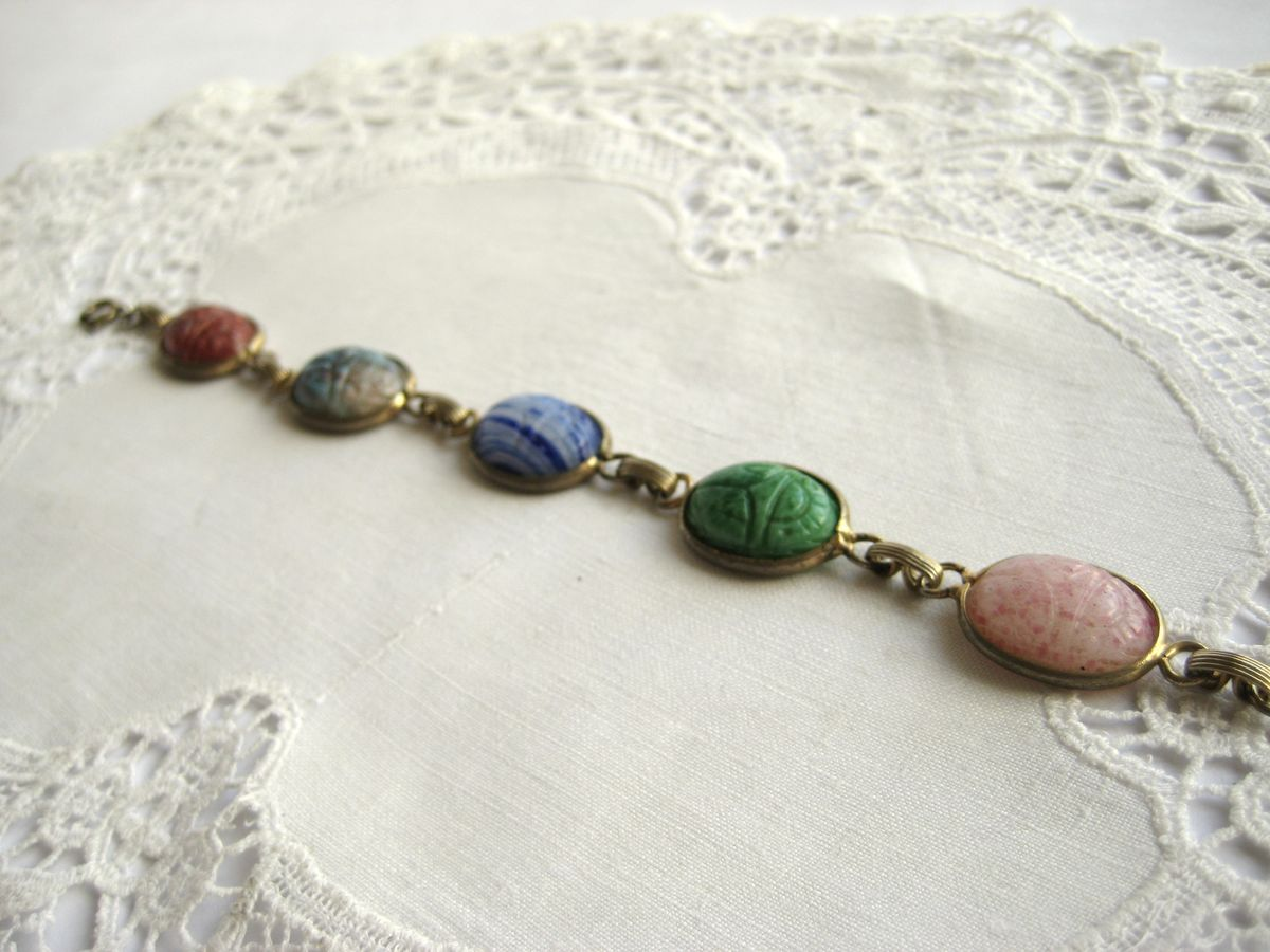 Vintage Scarab link bracelet - product images  of