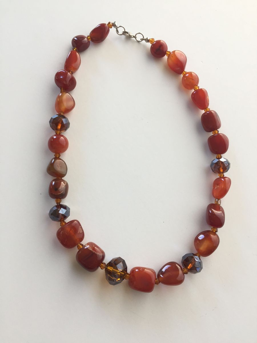 Crystal and Agate Necklace - product image