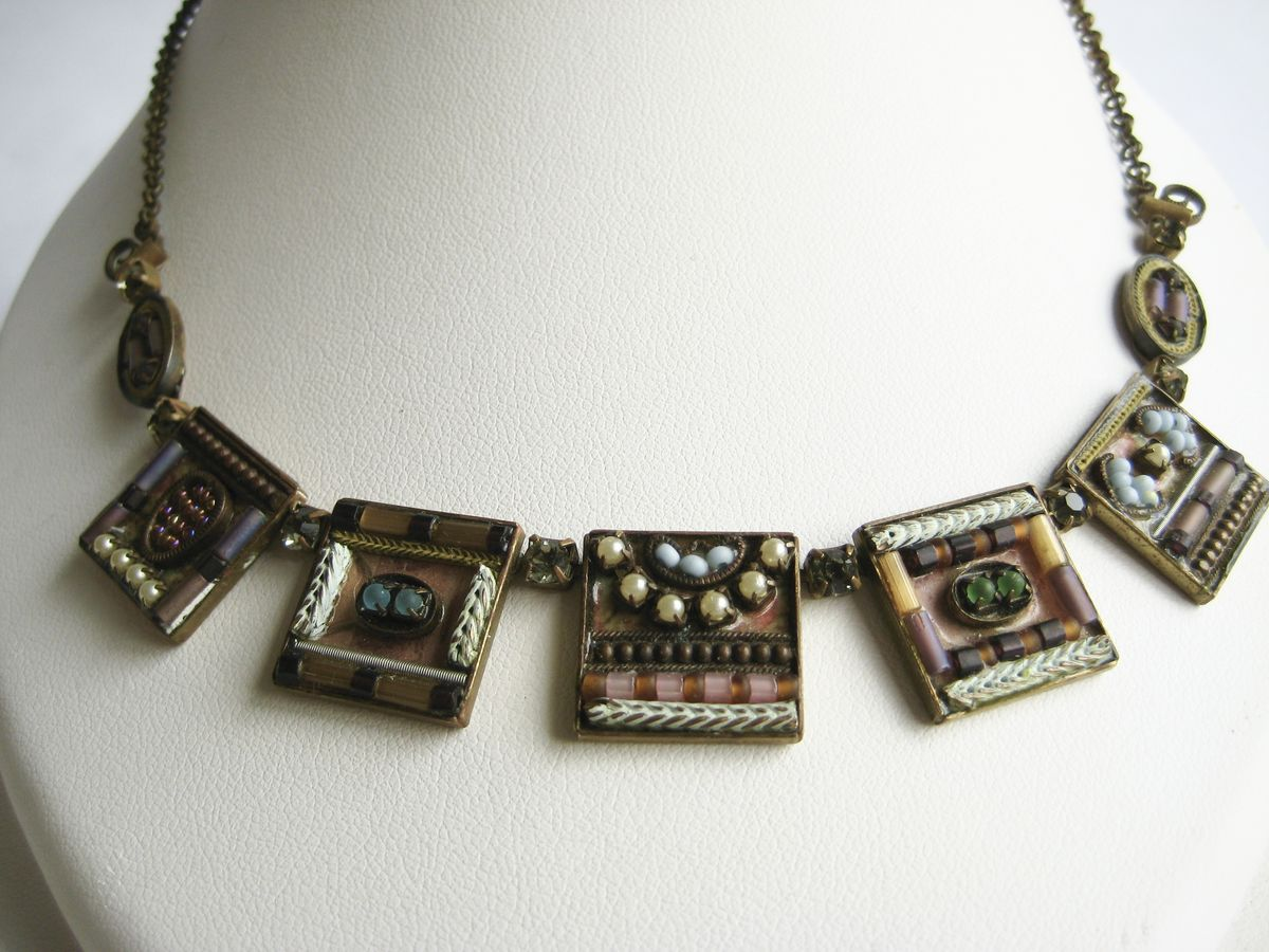 Ayala Bar Necklace multi color squares - product image