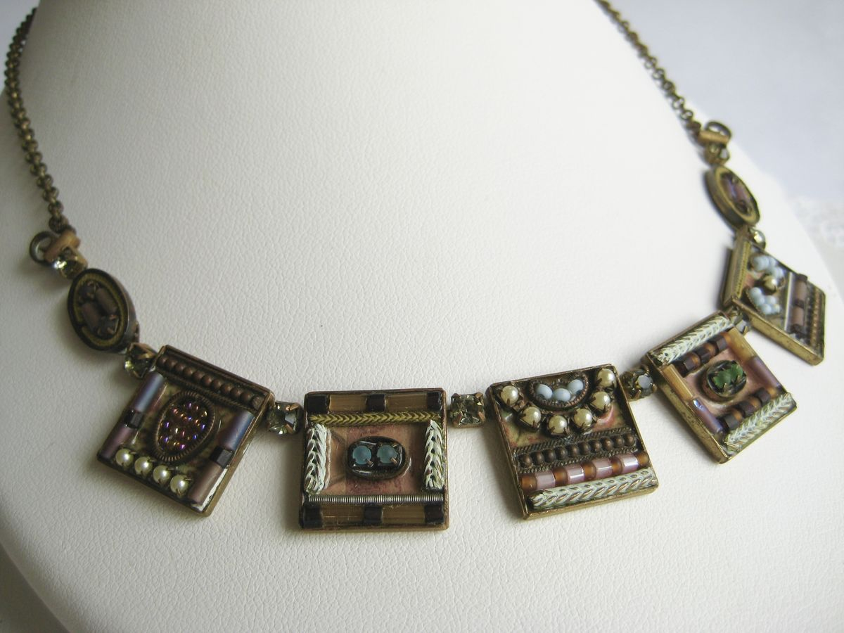 Ayala Bar Necklace multi color squares - product images  of