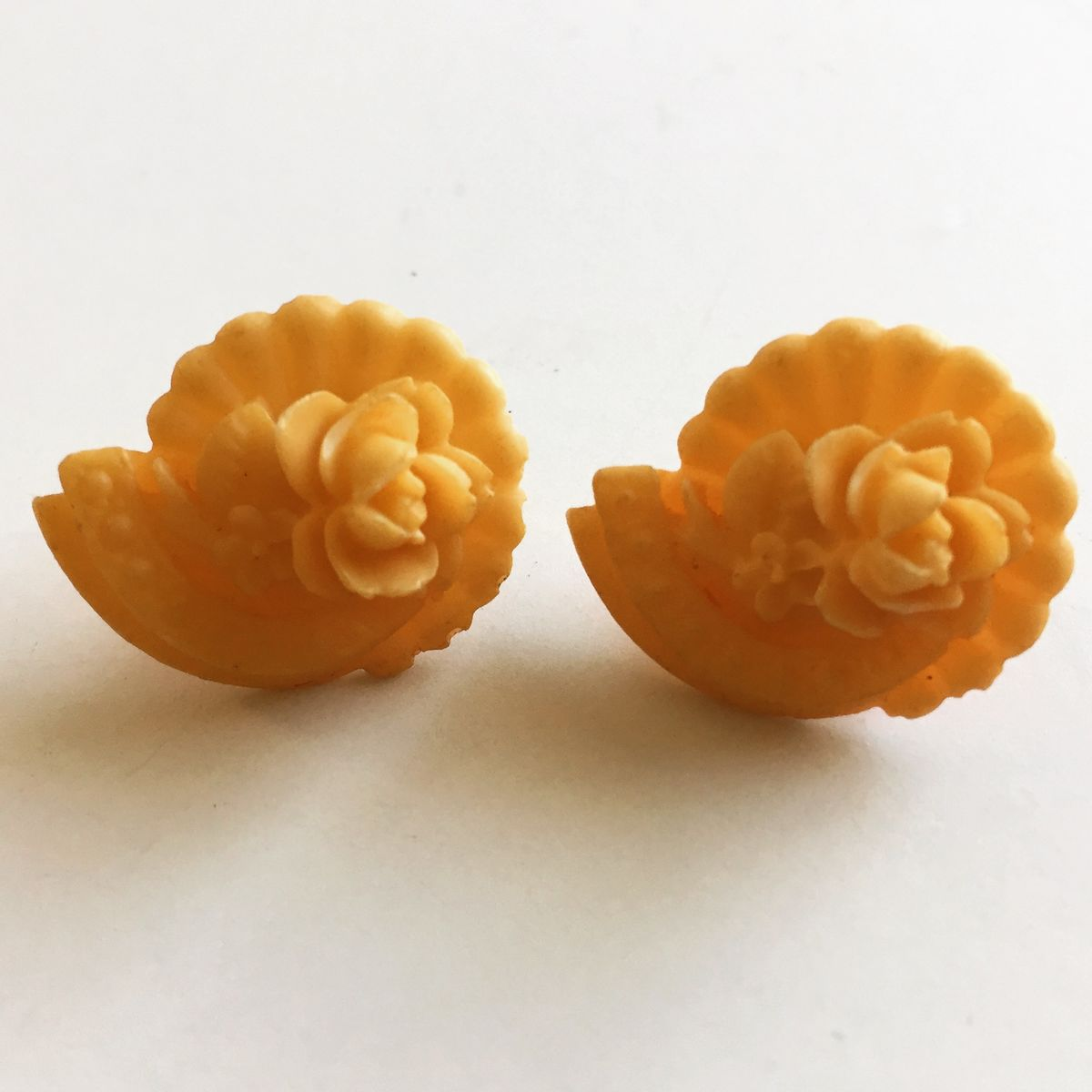Vintage Celluloid Flower Earrings - product image
