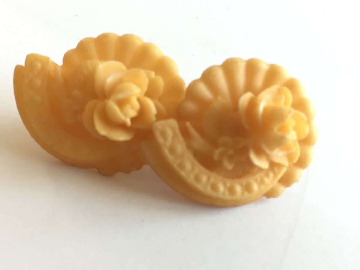 Vintage Celluloid Flower Earrings - product images  of