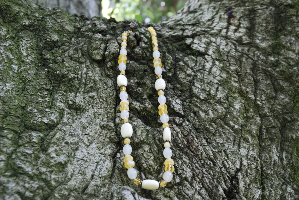 Sweet Cream Beaded Necklace - product images  of