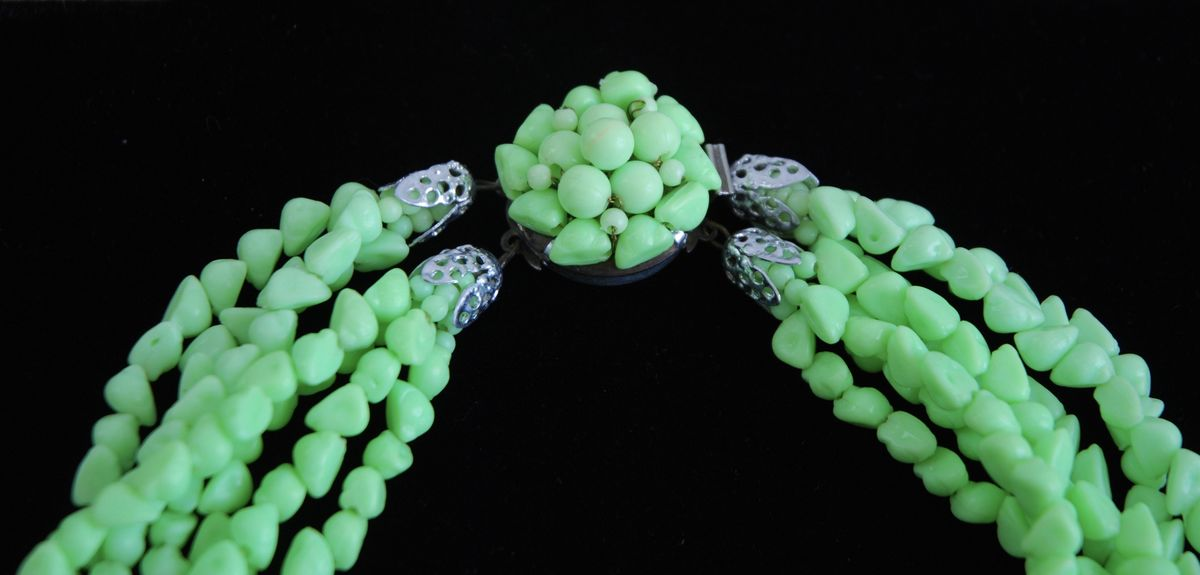 Lime Green Multi Strand Necklace  - product images  of
