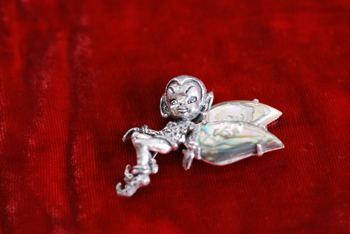 Sterling Silver Pixie Brooch By Cyvra - product image