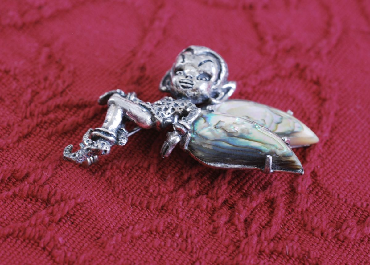 Sterling Silver Pixie Brooch By Cyvra - product images  of