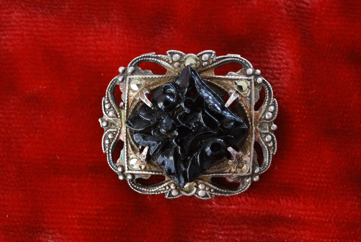 Victorian Mourning Pin Sterling silver - product image