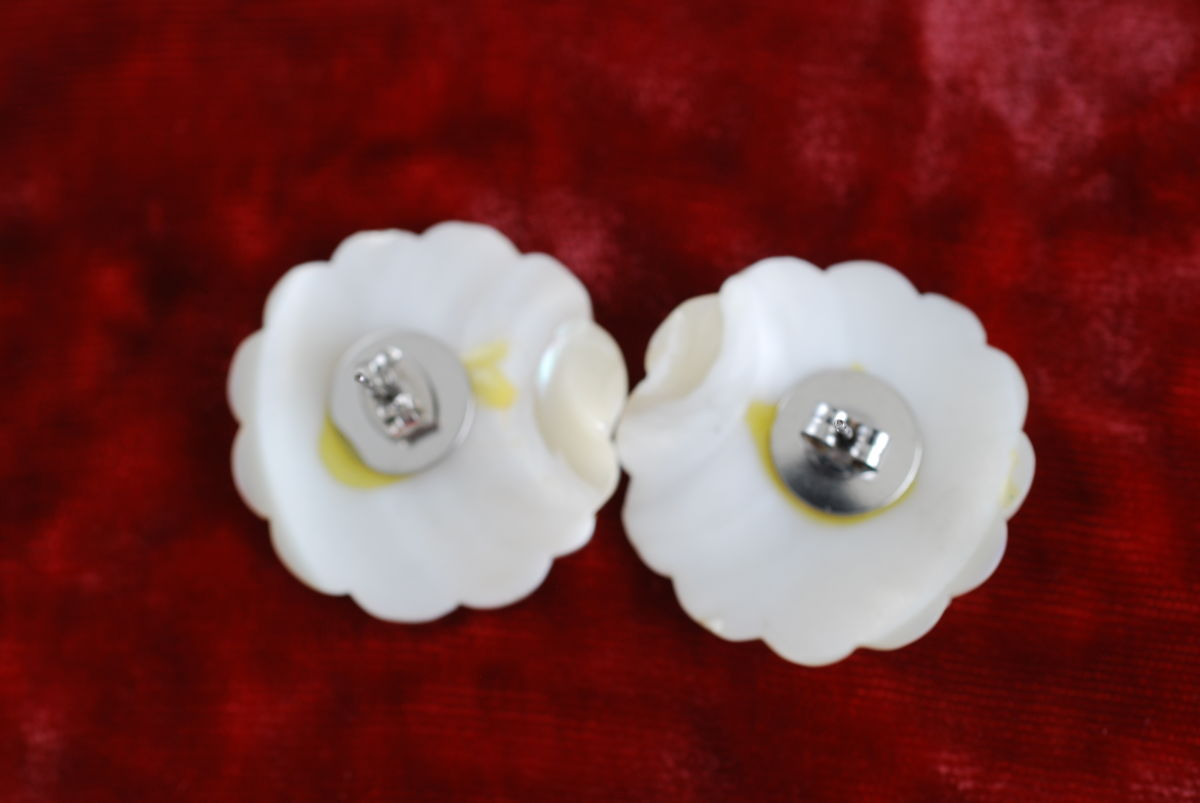 Vintage Mother of Pearl Earrings  - product images  of
