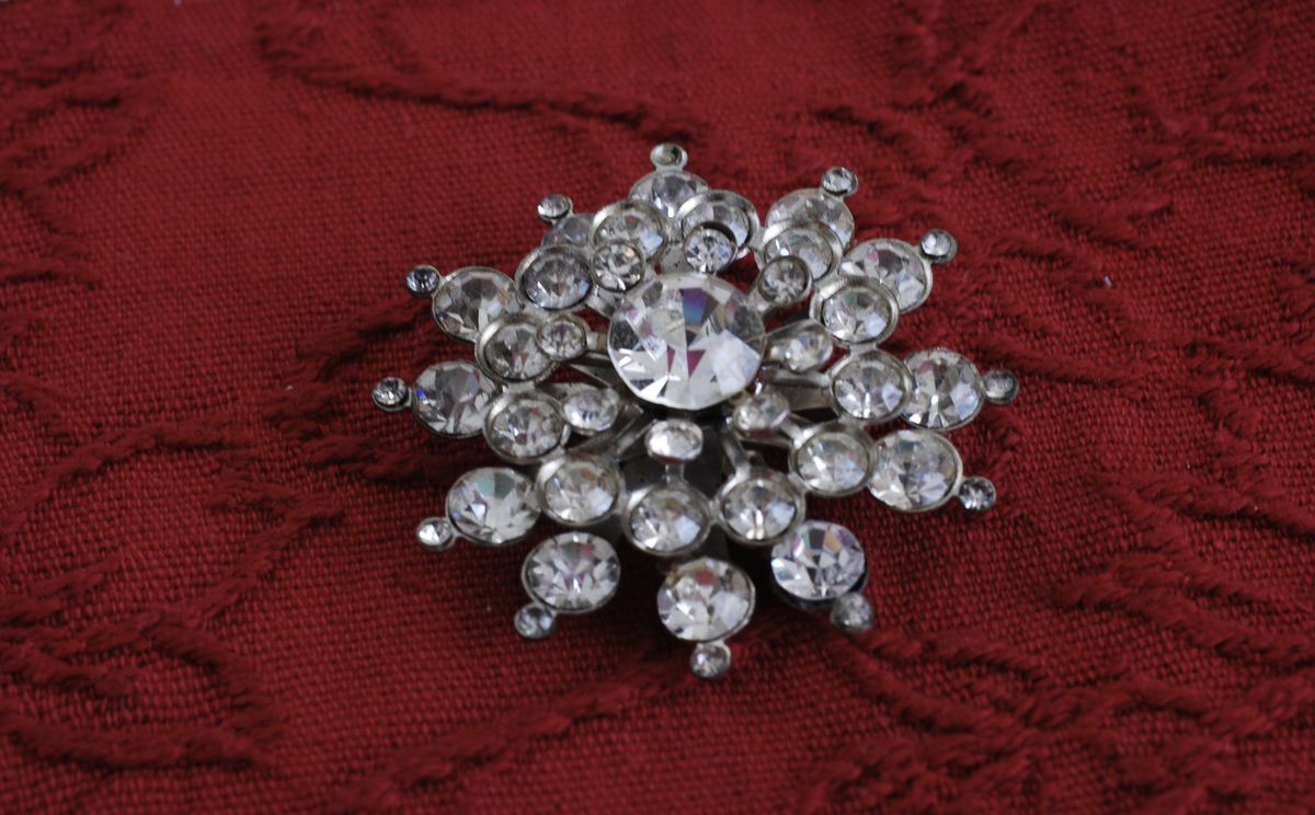 Vintage Starburst Rhinestone Brooch - product images  of