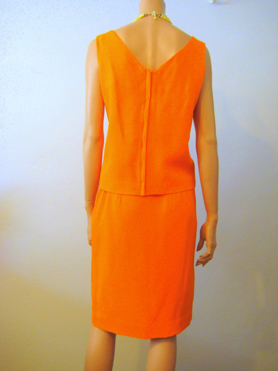 2 Piece Dress Skirt and Tank Top Designer Tangerine Sparkle - product images  of