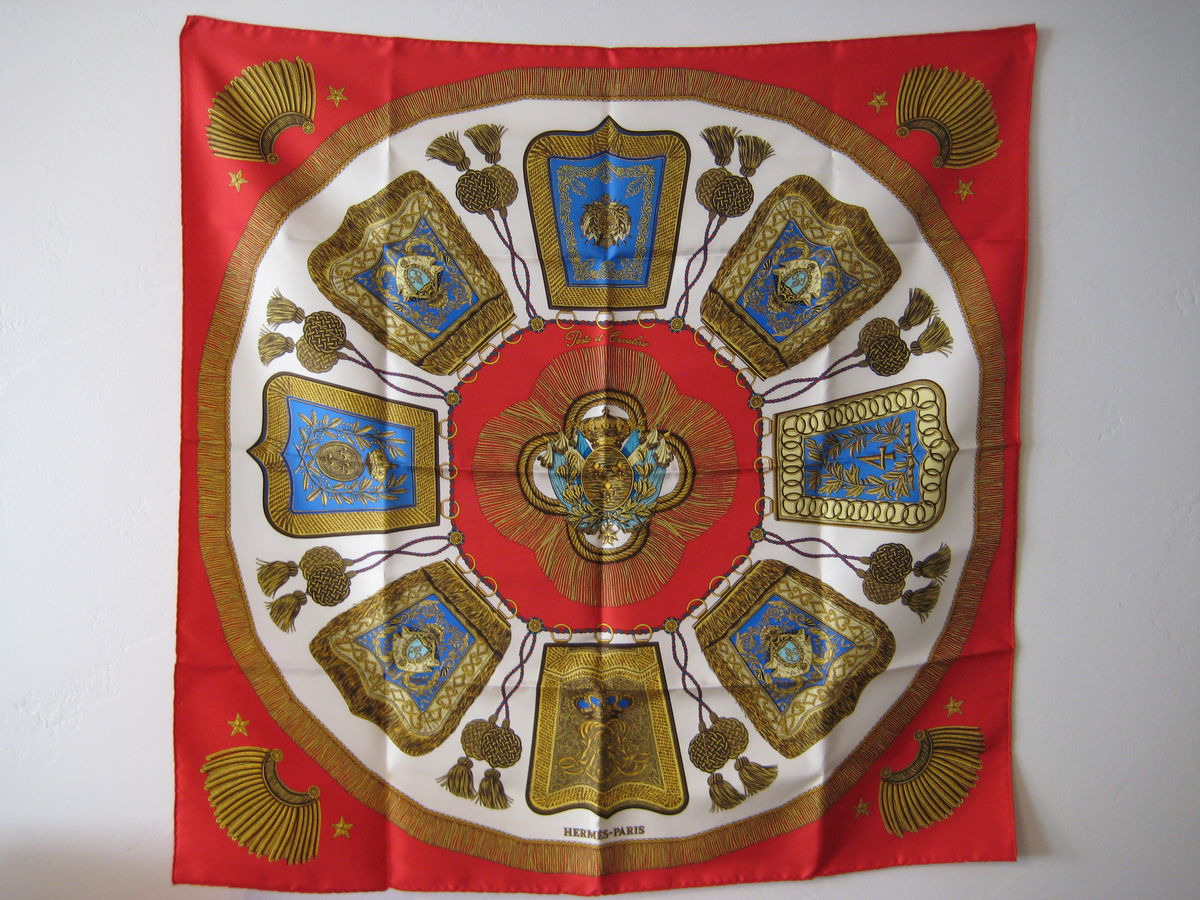 Hermes Silk Scarf Carre: Poste et Cavalerie by Joachim Metz in Red - product image