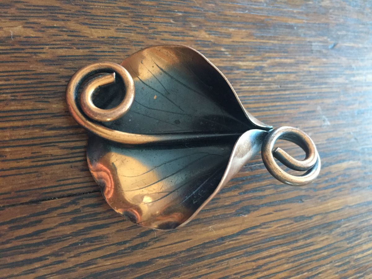 Copper Calla Lily Brooch  - product images  of