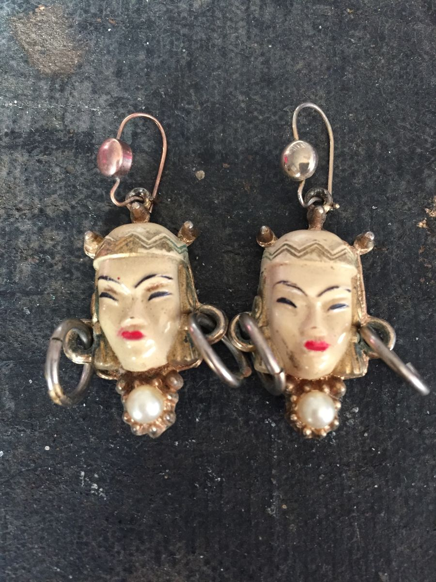 Asian Princess/Thai Girl vintage earrings by Selro - product image