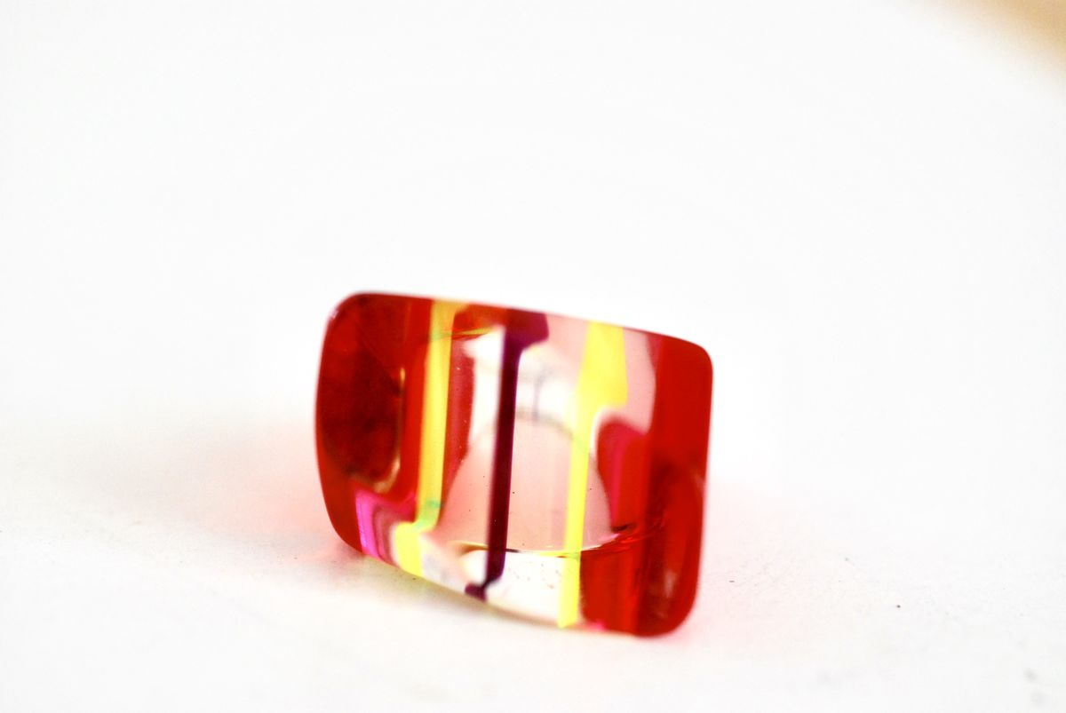 Vintage Lucite Ring Multi-Color  - product image