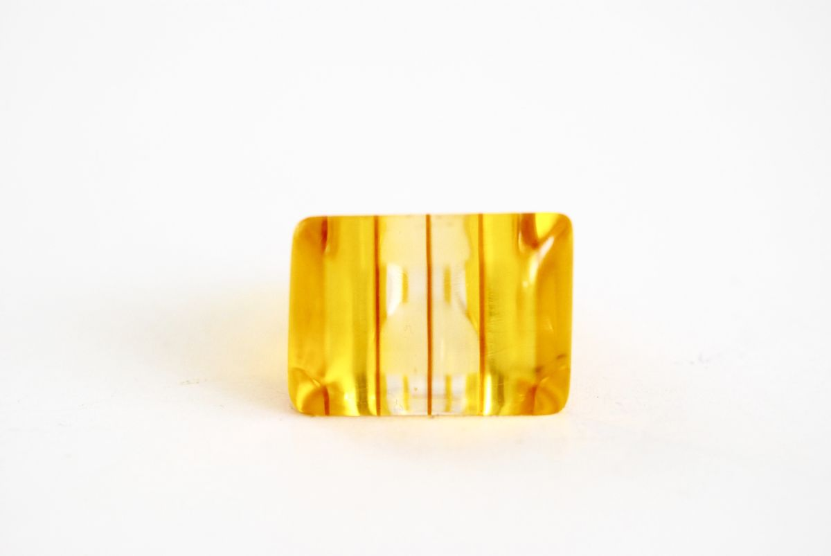 Orange Lucite Ring Vintage size 7 1/2 - product images  of