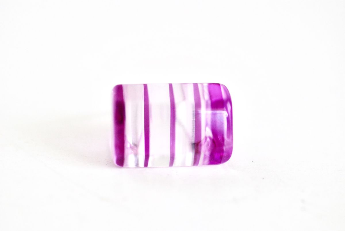 Purple Lucite Ring Vintage size 7 1/2 - product images  of