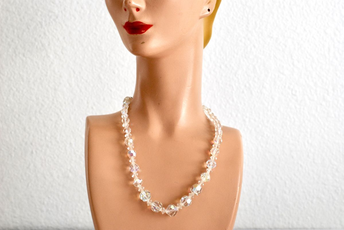 Clear Crystal AB Choker Necklace - product image