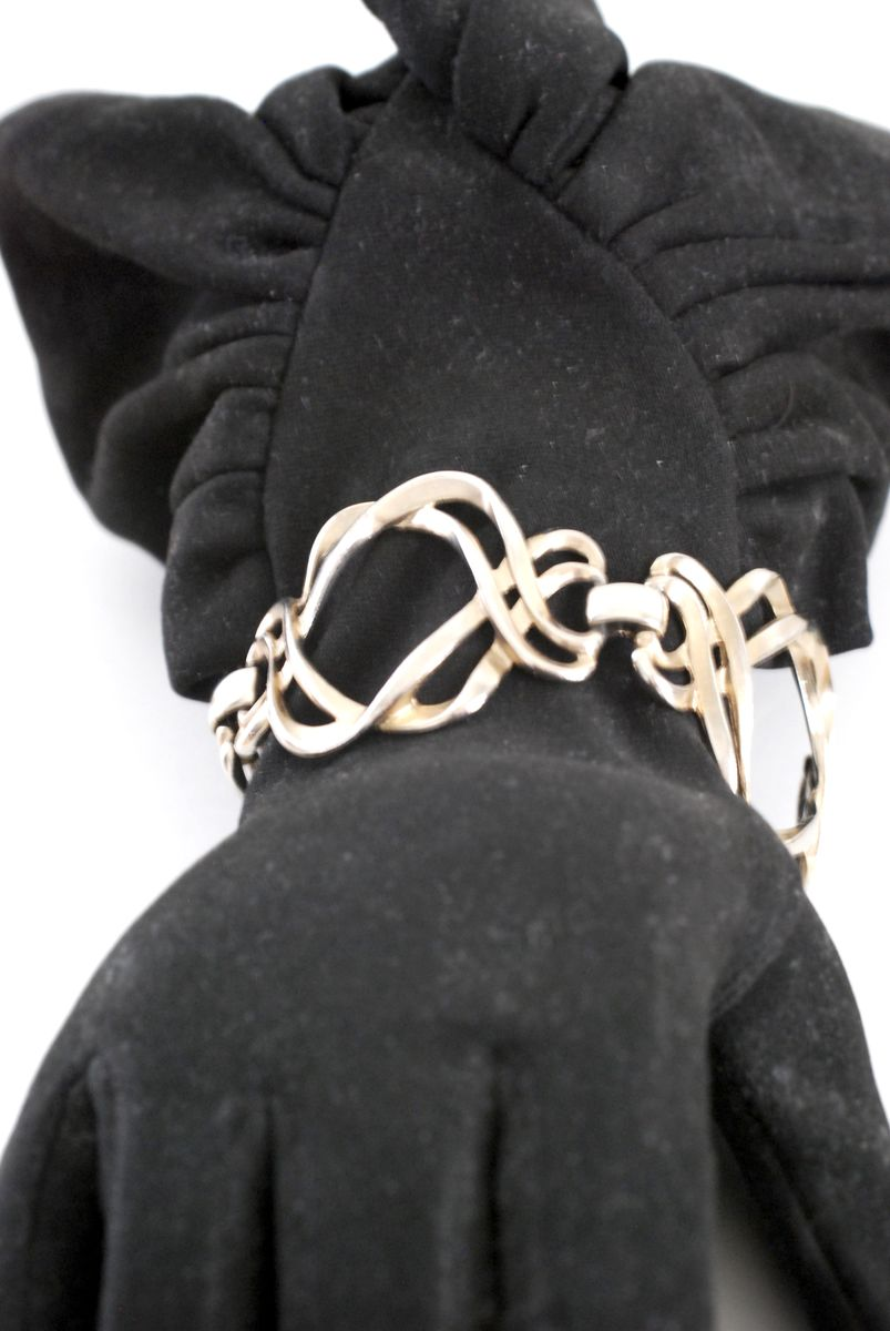Silver Tone Large Open Love Knot Link Bracelet - product images  of