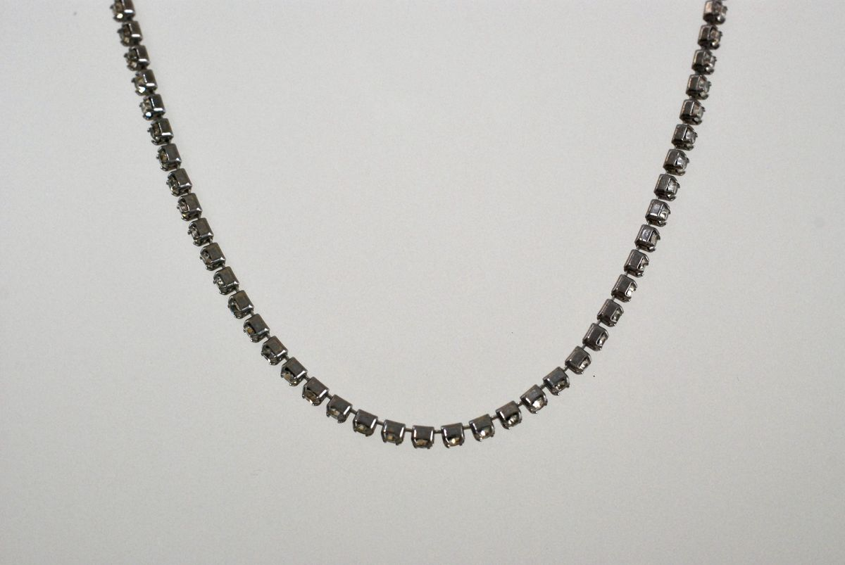 Single Strand Rhinestone Choker Necklace - product images  of