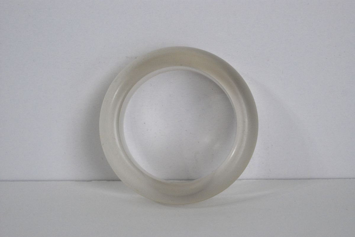 Chunky Frosted Clear Lucite Bangle Bracelet - product images  of