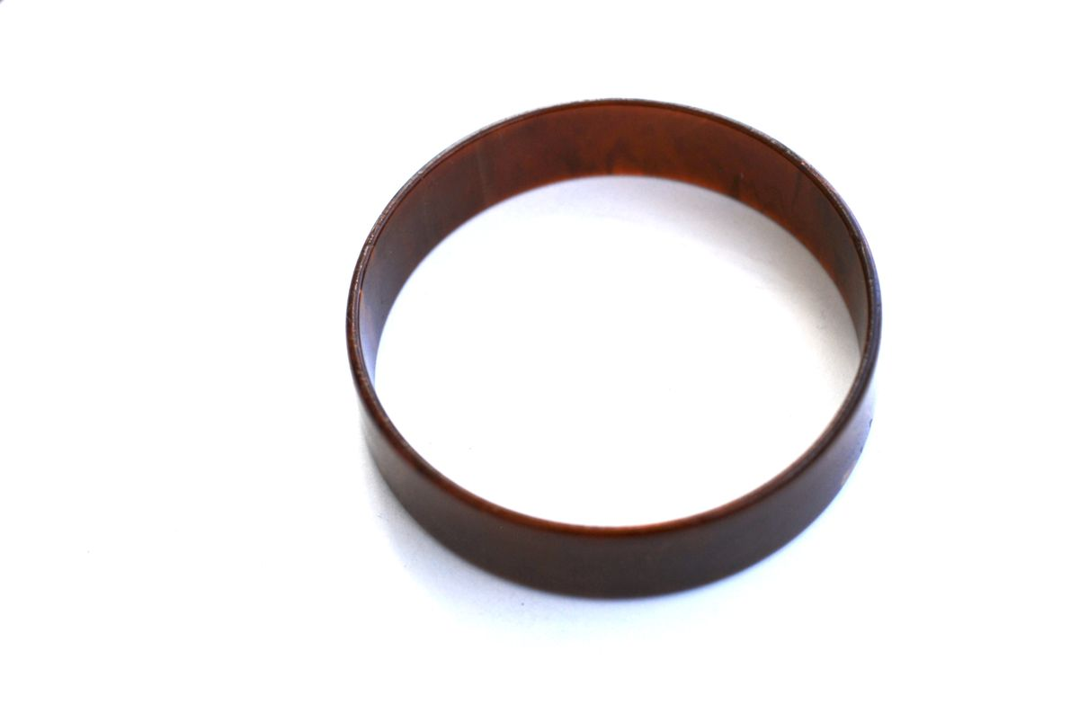 Marbled Chocolate Bakelite Bangle  - product images  of