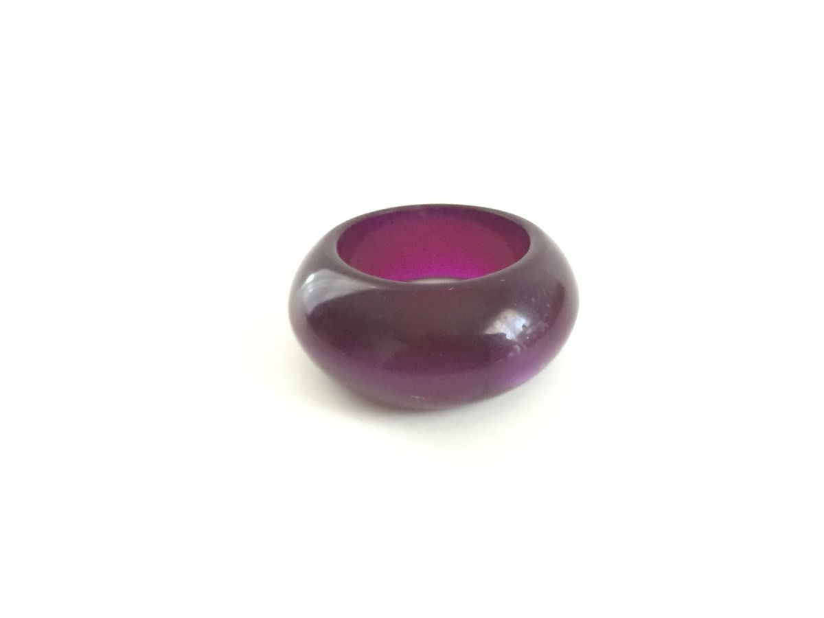 Vintage Purple Plastic Bubble Ring size 7 - product images  of