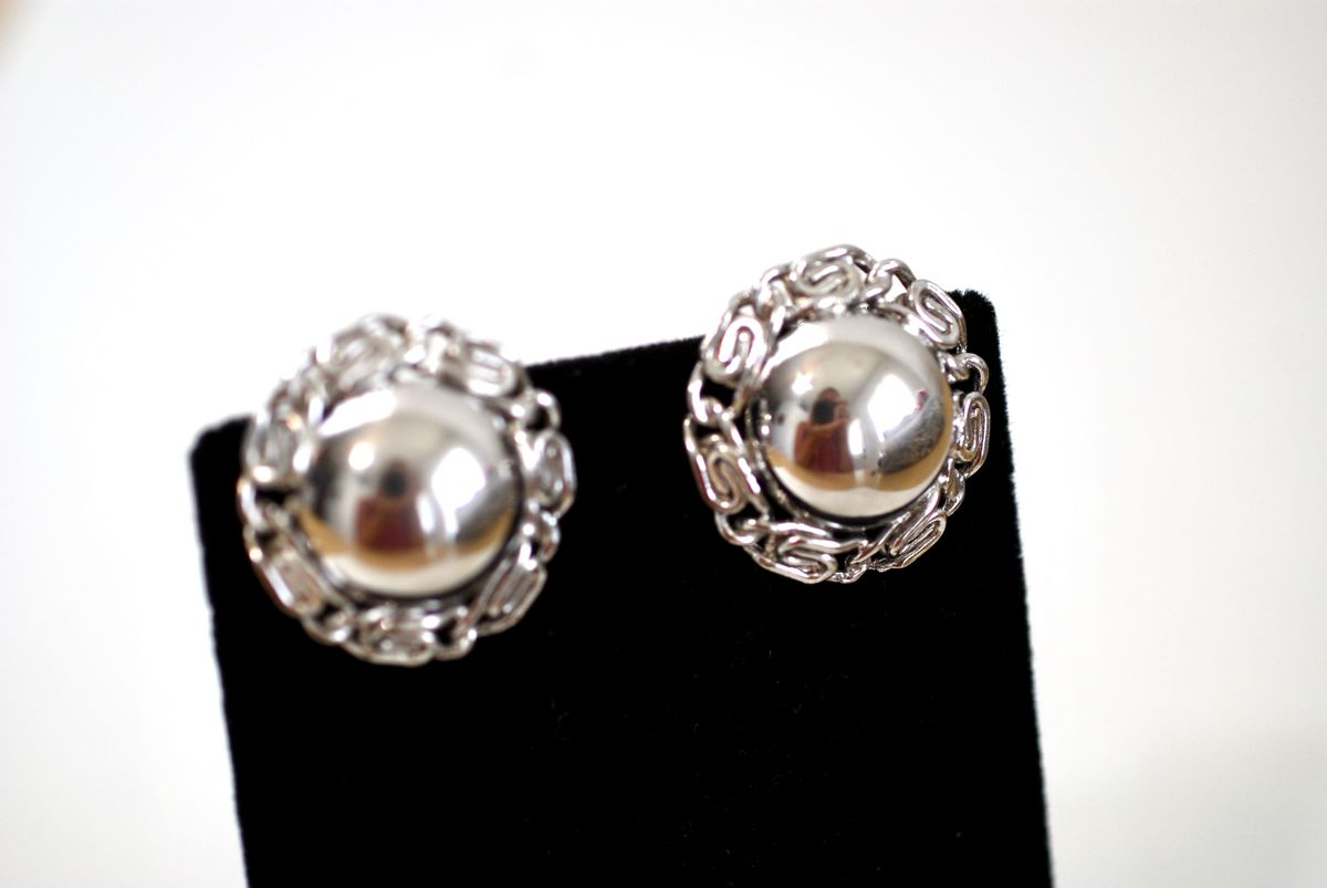 Silver Tone Barclay Three Strand Bracelet and Earrings Set  - product images  of