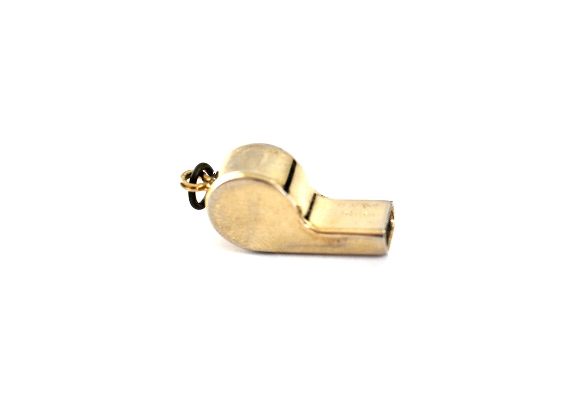 Vintage Gold Whistle Charm  - product images  of