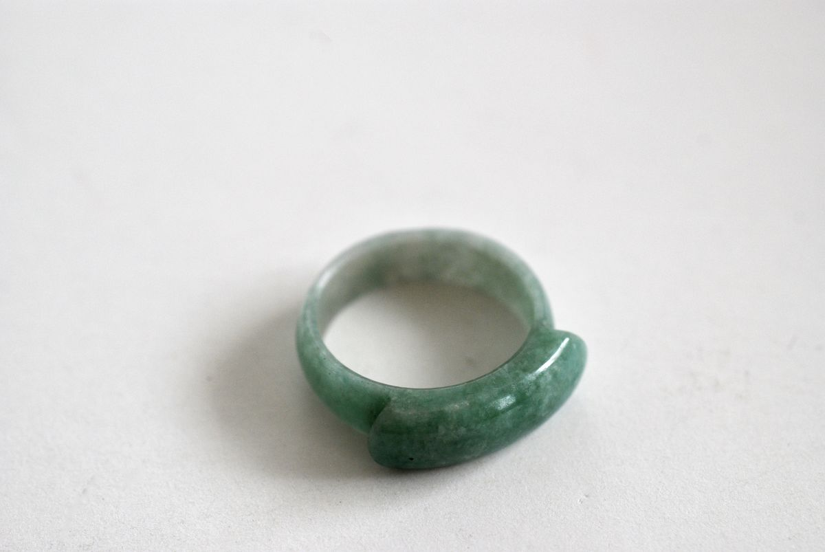Jade Saddle Ring  - product image