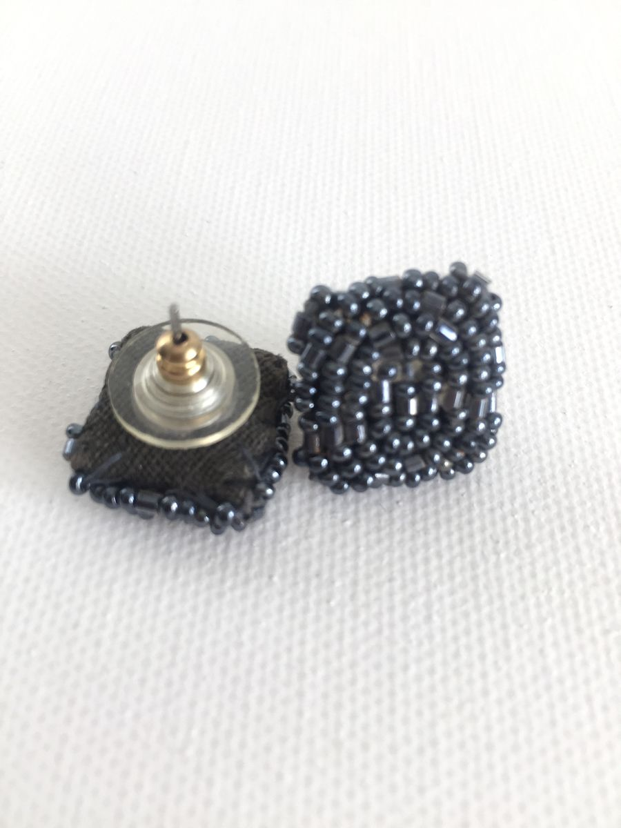 Victorian Glass Seed Bead Earrings  - product images  of