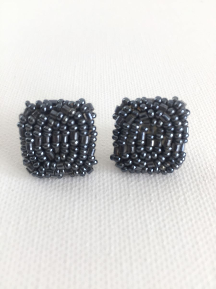 Victorian Glass Seed Bead Earrings  - product image