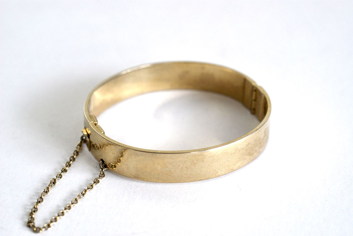 Whiting & Davis Gold Tone Hinge Bracelet - product image