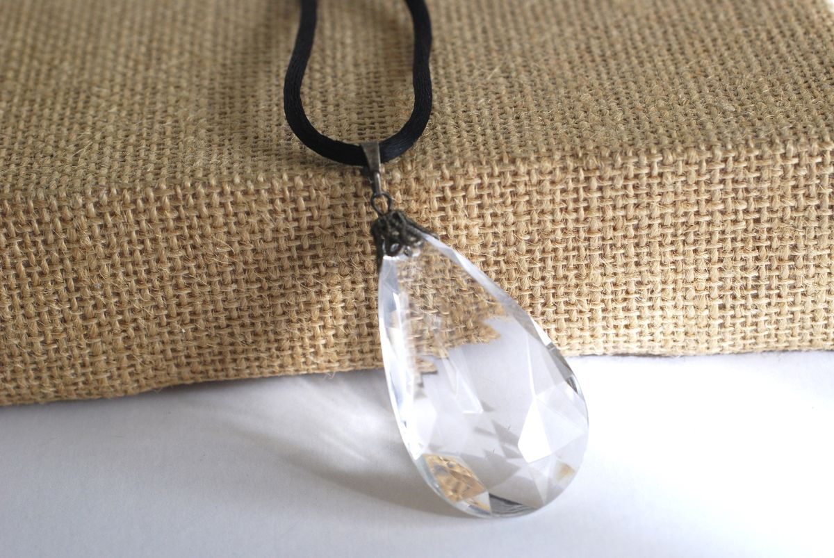 Large Crystal Drop Pendant Necklace By Robert Rose - product images  of