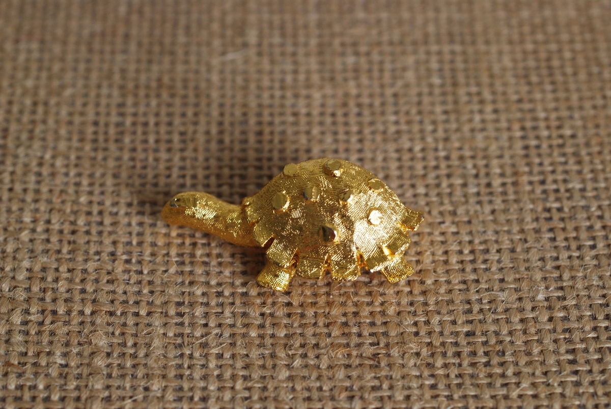 Vintage Gold-Tone Turtle Brooch - product images  of