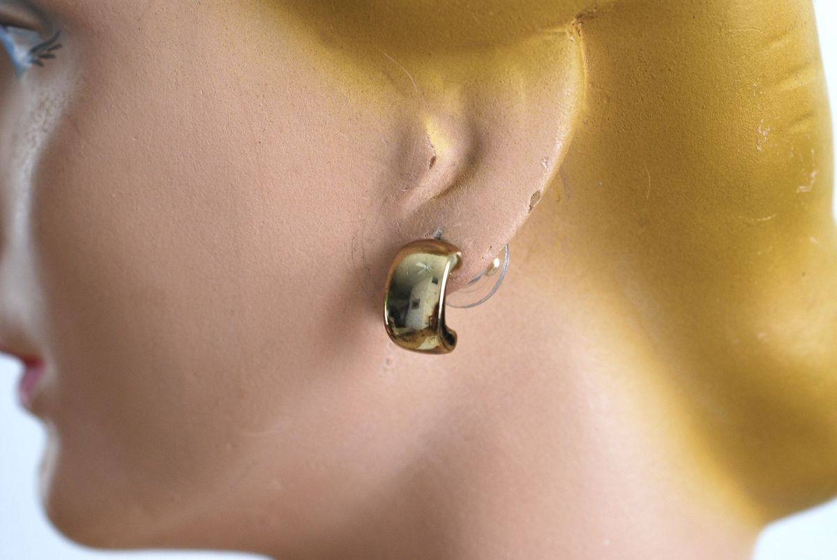 Tiny Monet Earrings Gold Tone Pierced  - product images  of