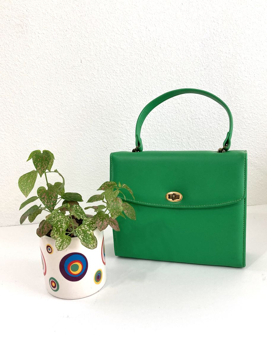 1950s Bright Green Handbag - product images  of
