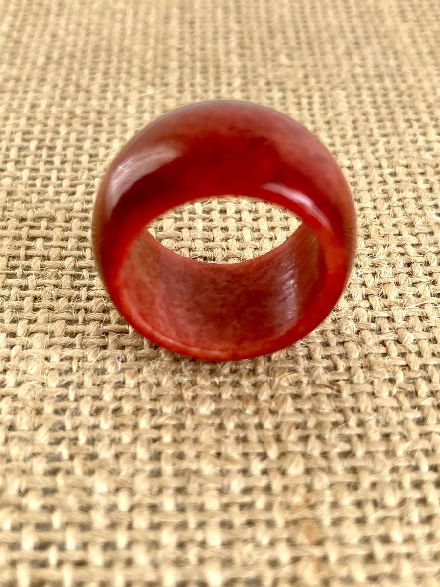Dyed Agate Wide Band Ring - product images  of