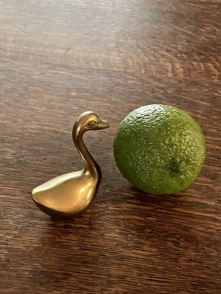 Tiny Brass Swan - product images  of