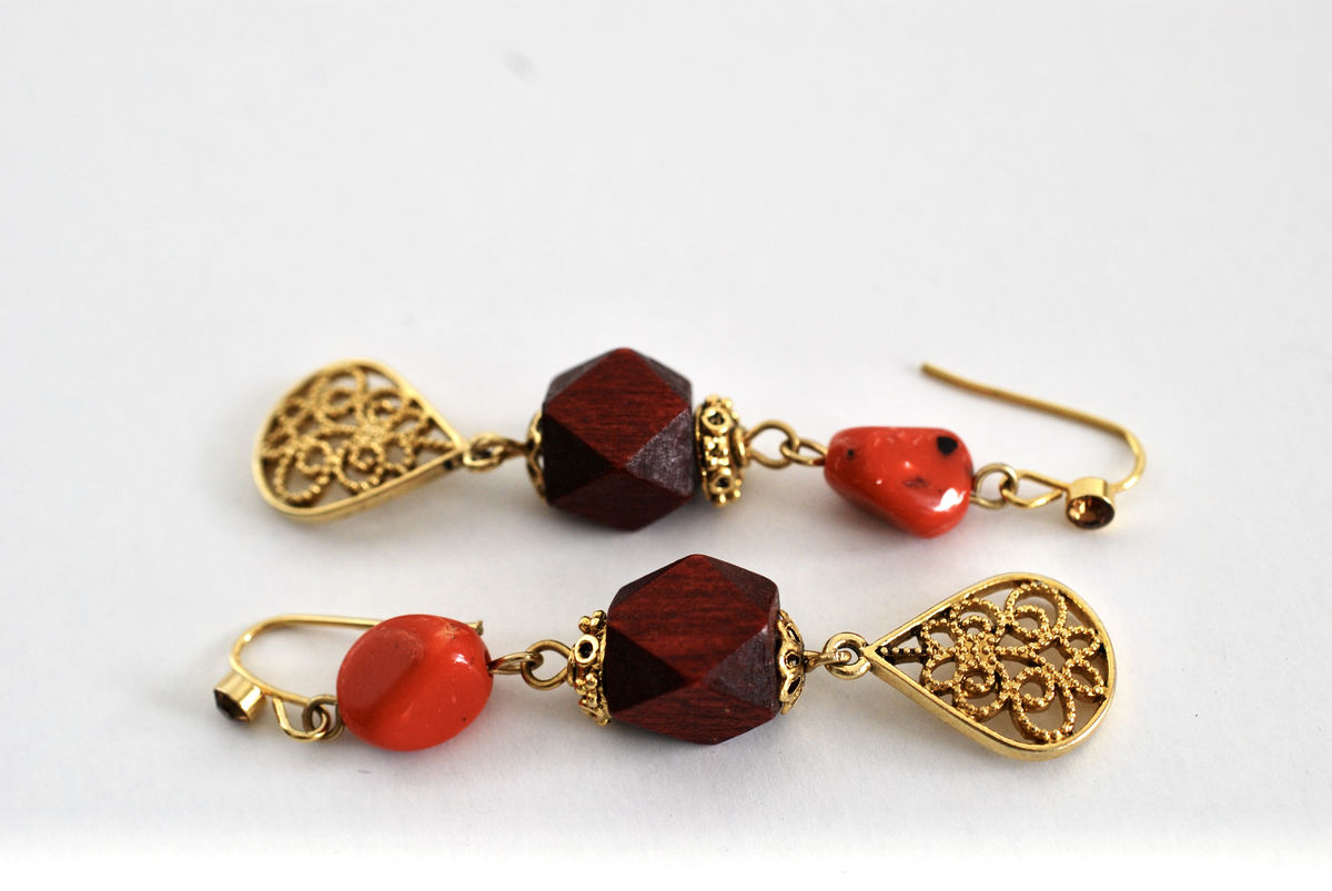 Fall Colors Mixed Media Dangle Earrings  - product images  of