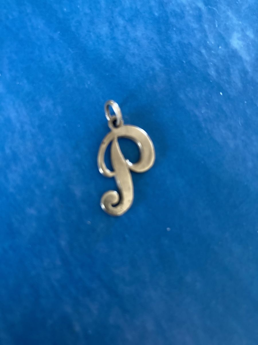 Vintage 1970s 14k Gold Initial P Charm - product images  of