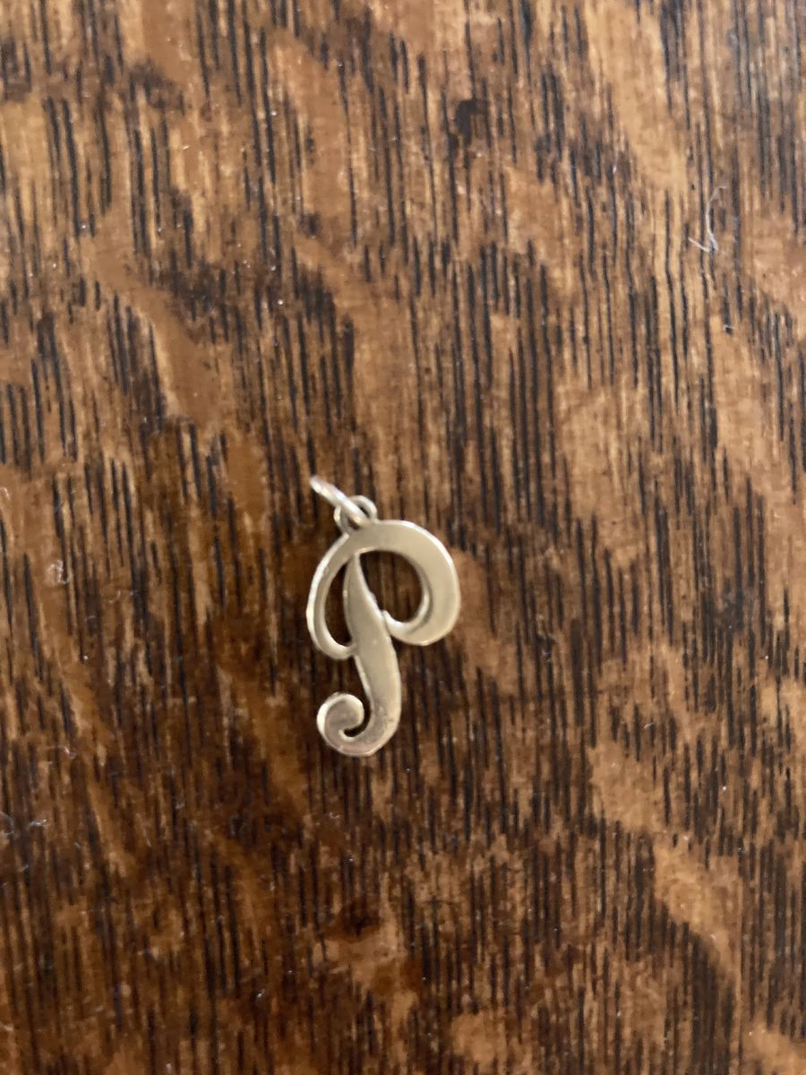 Vintage 1970s 14k Gold Initial P Charm - product image
