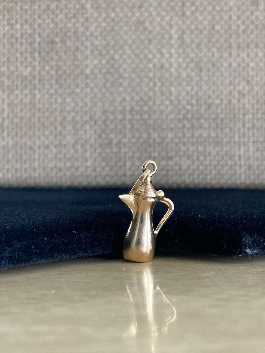 22k Gold Coffee Pot Charm - product images  of